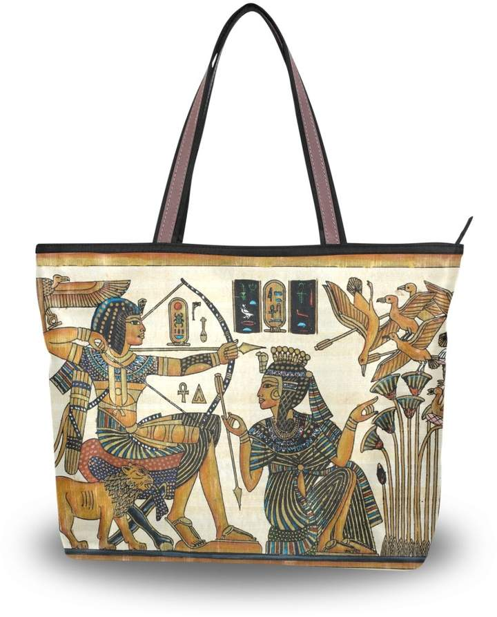 713b6210ff5e JSTEL Women Large Tote Top Handle Shoulder Bags Egyptian With Pharaoh  Patern Ladies Handbag
