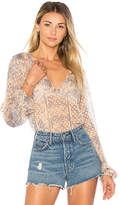 House Of Harlow x REVOLVE Ivy Blouse in Blue. - size L (also in M,S,XL,XS)