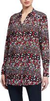 Nanette Lepore Nanette Long-Sleeve Printed Button Down Tunic