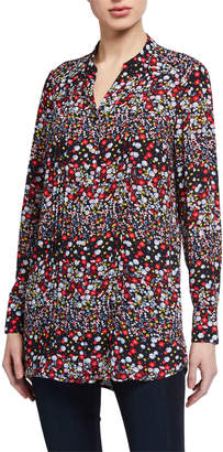 Nanette Lepore Nanette Long-Sleeve Printed Button Down Tunic
