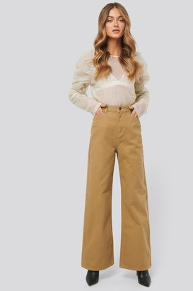 NA-KD Wide Leg High Waisted Jeans