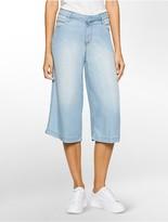 Calvin Klein Ultra-Faded Soft Drape Chambray Culottes