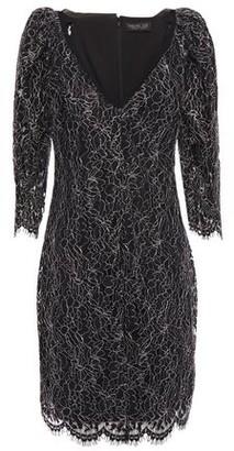 Rachel Zoe Metallic Corded Lace Mini Dress