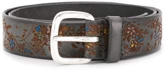 Orciani Floret hand-painted belt