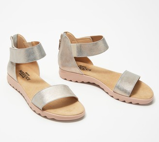 Sesto Meucci Leather Ankle Strap Sandals - Topaz