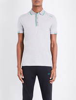 HUGO BOSS Logo-detail cotton-blend polo shirt