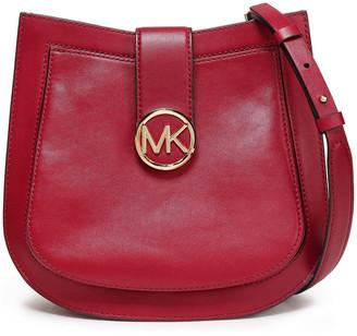 MICHAEL Michael Kors Lillie Logo-embellished Leather Shoulder Bag