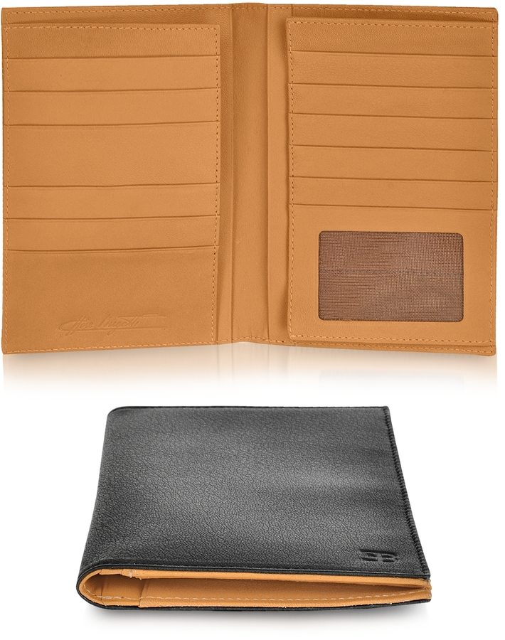 Bugatti EB Black Leather Passport Wallet