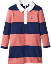 Lacoste Kids Long Sleeve Striped Rugby Dress (Toddler/Little Kids/Big Kids)