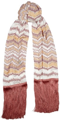 Missoni Zigzag metallic-knit scarf
