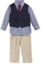 Nautica Baby Boys' 4-Piece Vested Twill Suit Set