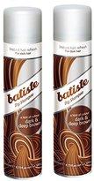 Batiste Dry Shampoo, Dark and Deep Brown, 6.73 Ounce (2 Pack)