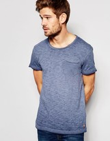 Esprit Oil Wash T-Shirt with Raw Edge