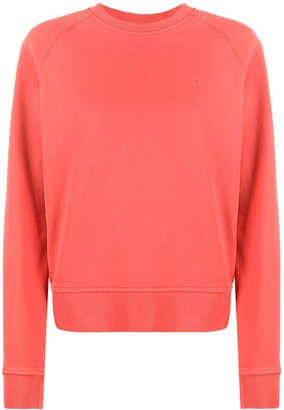 Calvin Klein Embroidered Logo Cotton Sweatshirt