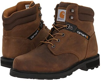 Carhartt Traditional Welt 6 Work Boot (Crazy Horse Brown Leather) Men's Work Boots