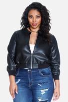 Fashion to Figure Calyx Faux Leather Bomber Jacket