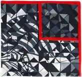 Faliero Sarti geo print scarf - unisex - Silk/Cotton - One Size