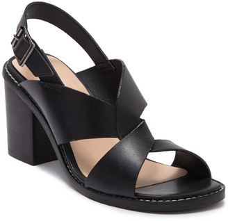 Tahari Nikola Leather Block Heel Sandal