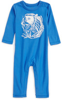 Tea Collection Graphic Romper (Baby Boys)