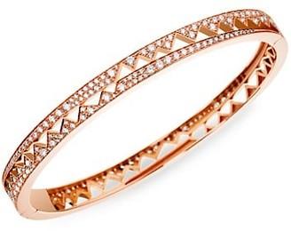 Akillis Capture Me Small 18K Rose Gold Diamond Bangle Bracelet
