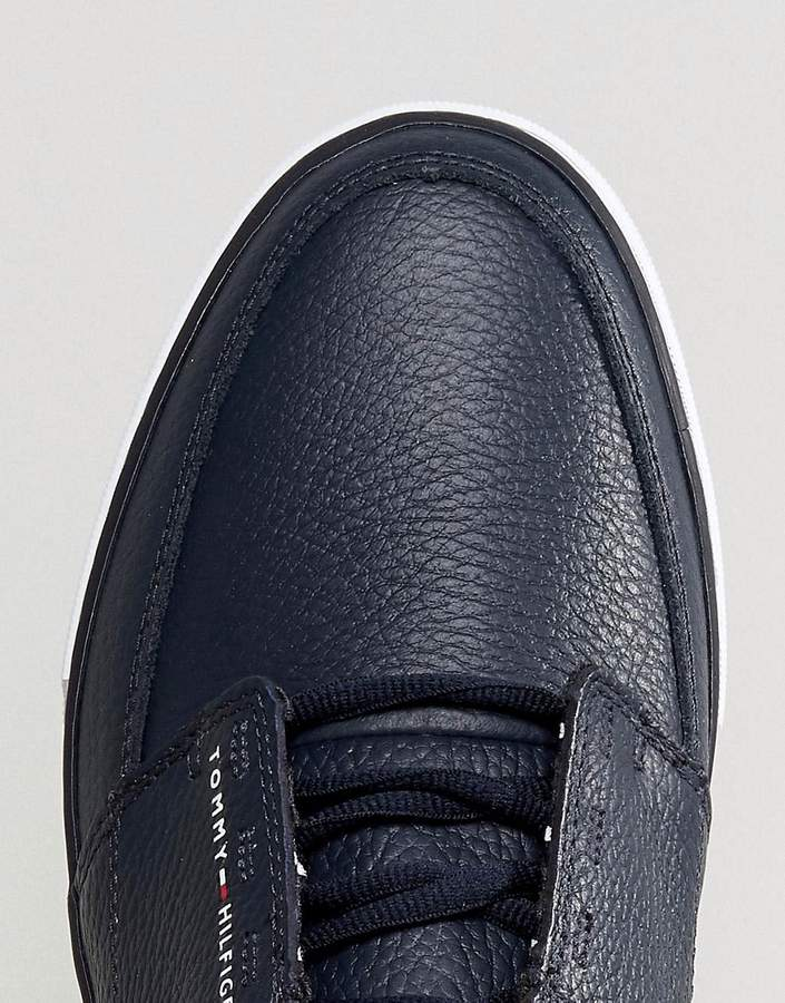 Tommy Hilfiger Harrington Sneakers Leather In Navy