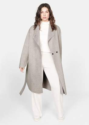 MANGO Violeta BY Unstructured belt coat beige - XS - Plus sizes