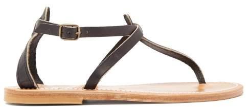 K. Jacques Buffon Leather Sandals - Womens - Black
