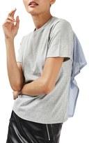 Topshop Women's Tie Back Shirting Tee