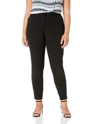 City Chic Women's Apparel Women's Plus Size Slim fit Solid Trouser Pant
