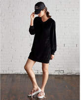 Express v-neck velour sweatshirt dress