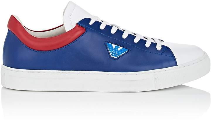 Emporio Armani Men's Colorblocked Leather Sneakers