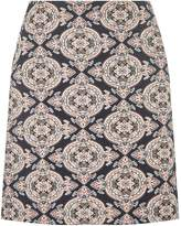 Dorothy Perkins Blue and Pink Jacquard Mini Skirt