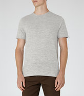 Reiss Reiss Monty - Striped T-shirt In Grey