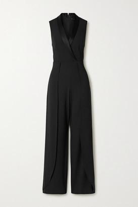Alice + Olivia Alice Olivia - Bebe Satin-trimmed Crepe Jumpsuit - Black
