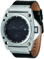 Vestal Men's DEC004 Decibel Matte Silver Case Leather Watch