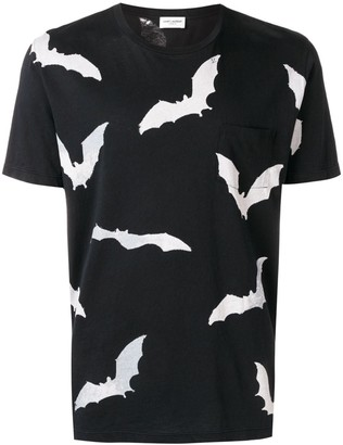 Saint Laurent bat print T-shirt