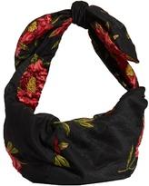 Simone Rocha Knotted floral-cloqué clutch