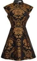 Dorothy Perkins Womens *Chi Chi London petite Blue Metallic Jacquard Dress- Blue