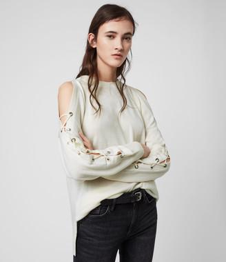 AllSaints Cross Merino Wool Sweater
