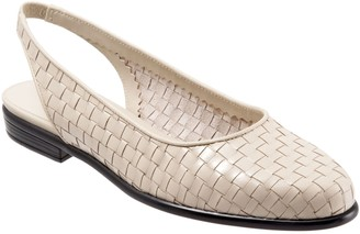 Trotters Woven Leather Slingbacks - Lucy