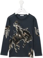 Dolce & Gabbana cowboy print T-shirt - kids - Cotton - 3 yrs