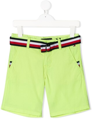 Tommy Hilfiger Junior Belted Chino Shorts