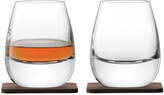 LSA International Whisky Islay Tumbler & Walnut Coaster