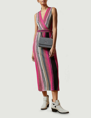 Ted Baker Sofinaa striped knitted midi dress