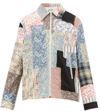 Loewe Paisley And Floral-patchwork Cotton-blend Jacket - Mens - Multi