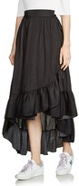 Maje Jonah High/Low Ruffled Skirt