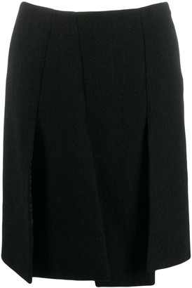 Prada Pre Owned 1990's Front Slit Skirt