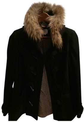 Karl Lagerfeld Paris Marc John Black Wool Coat for Women