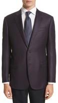 Emporio Armani Men's Armani Collezioni Trim Fit Houndstooth Wool Sport Coat