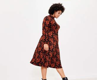 Oasis Curve Floral Midi Dress